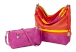 Orange, Yellow & Fuchsia Reversible Hobo