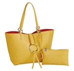Reversible Ring Tote-Yellow/Orange