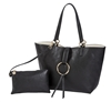 Reversible Ring Tote-Black/Creme