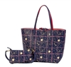 Reversible Large Tote-Nautical Print