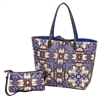 Kaleidoscope Print Reversible Large Tote