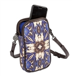 Kaleidoscope Print Double Zip Crossbody