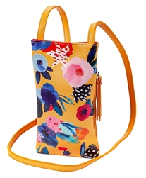 Yellow Floral Cell Phone Holder