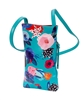 Aqua Floral Cell Phone Holder
