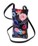 Black Floral Cell Phone Holder