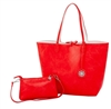 Reversible Large Tote-Red/White