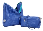 Reversible Hobo-Periwinkle/Teal