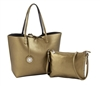 Reversible Tote with inner pouch in Olive and Black