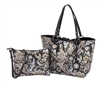 Black Paisley Reversible Medium Tote