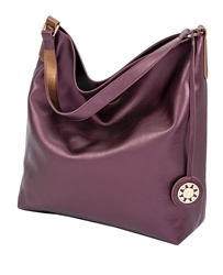 Reversible Hobo in Eggplant and Copper