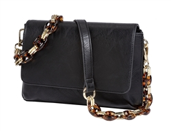 Mini Shoulder Bag-Black