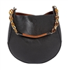 Horseshoe Bag-Black/Cognac