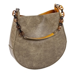 Horseshoe Bag-Stone/Curry