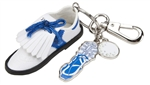 Blue Golf Shoe Keychain
