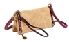 Sand and Wine Fold over Crossbody