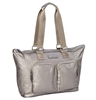 Pewter Nylon Travel Tote