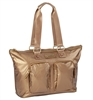 Bronze Nylon Travel Tote