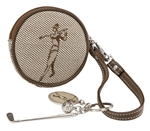 Classic Golfer Round Coin Pouch