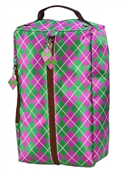 Argyle Golf Shoe Bag