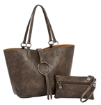 Chocolate/Camel Reversible Medium Tote