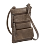 Double Zip Cross Body Cell Phone Holder