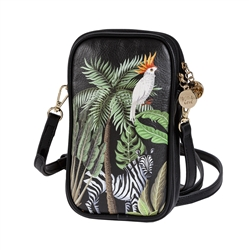 Jungle Print Double Zip Crossbody