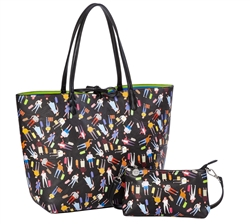 Reversible Large Tote-New Traveler Print