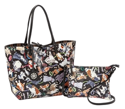 Reversible Large Tote-Dog Print