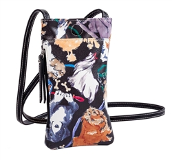 Dog Print Crossbody Phone Case
