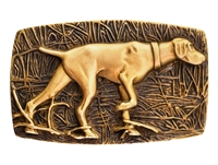 Ansell Bray - Bronze Dog (Pointer) Belt Buckle