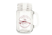 Glass Mason Jar with Country Pursuits Logo