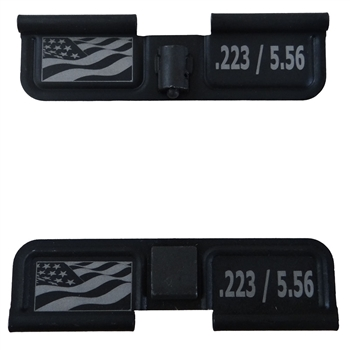 Wavy USA Flag and .223 / 5.56  Ejection Port Cover