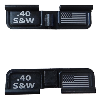 .40 Smith & Wesson and USA Flag on Right  Ejection port  cover