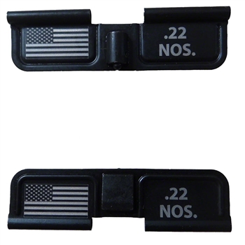 .22 NOS. for 22 Nosler and USA Flag on Right  Ejection port  cover
