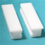 "4"" V Groove Soft Jaws White"