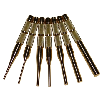7pc Brass punch set