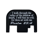 Psalm 23:4 on a Glock back plate