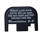 Revelation 6:8 on a Glock back plate