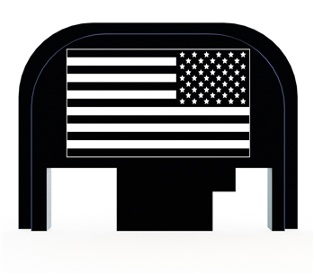 USA Battle Flag on a Glock back plate