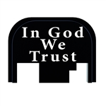 In God We Trust slide back plate for Glock