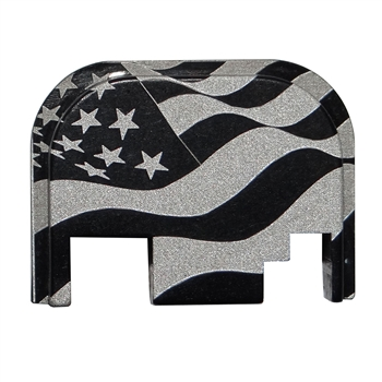 USA wavy Flag back plate for Glock