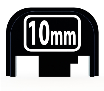 10 mm back plate for Glock