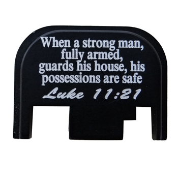 Luke 11:21 back plate for Glock