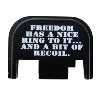 Freedom Ring Slide back plate for  plate for Glock