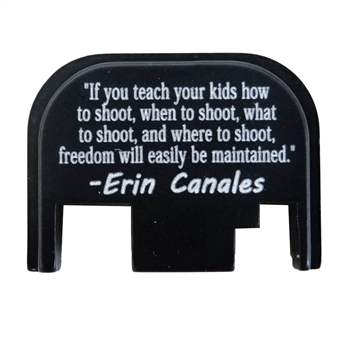 If you teach your kids how to shoot, when to shoot, what to shoot, and where to shoot, freedom will easily be maintained