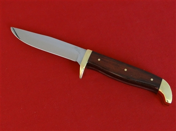 Dyamond Cocobolo Skinner Knife with brass and sheath