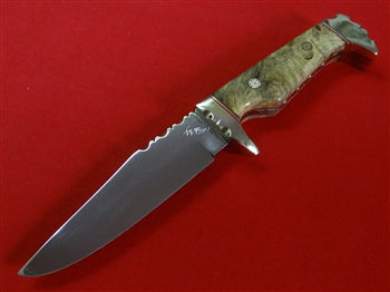 California Buckeye Skinner Knife with Silver Mosaic Pins