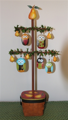 Christmas Owls in a Pear Tree