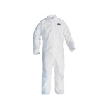 Kimberly Clark 49003 Kleenguard Gp Coverall White Large Zipper Front 24/Cs