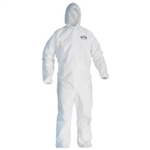 Kimberly Clark 49113 Kleenguard Gp Coverall White Large Hood 24/Cs